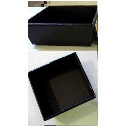 Boîtes corbeilles noires Carrées 3 tailles