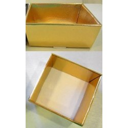 Boîtes corbeilles or Carrées 3 tailles