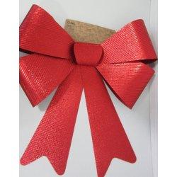 Noeud rouge velours 36 cm