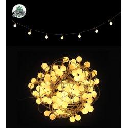 Guirlande électrique d'intérieur boules blanches