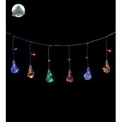 Guirlande électrique d'intérieur lampes anciennes multicolore