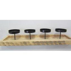 Bougeoir en bois, 50 cm