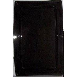 Plats rectangle NOIR 45 CM