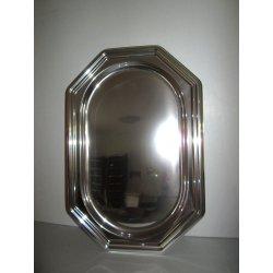 Plats ovale en plastique métallisé 45 CM