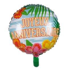Ballon Alu Paradise Anniversaire 45 cm