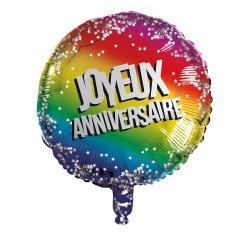 Ballon Alu Anniversaire 45 cm