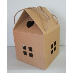 Boîtes cadeau maison Kraft 20 cm