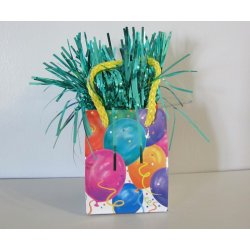 """Poids """"cadeau """"pour ballons gonflés a l'hélium"""