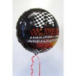 Ballon Alu Anniversaire 45 cm Circuit