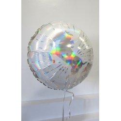 Ballon Alu Licorne 45 cm ARGENT hollographique