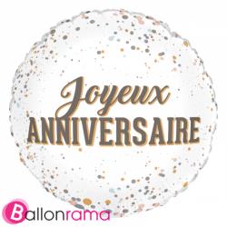 Ballon Alu Anniversaire 45 cm Beige