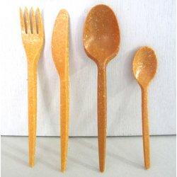 Couverts en Fibres de bois 17 cm